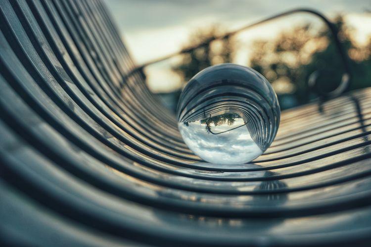 Crystal Ball Bench 2019 Niklas Storm Juni Concentric Close-up Geometric Shape Rectangle Skylight Circular Circle Shape