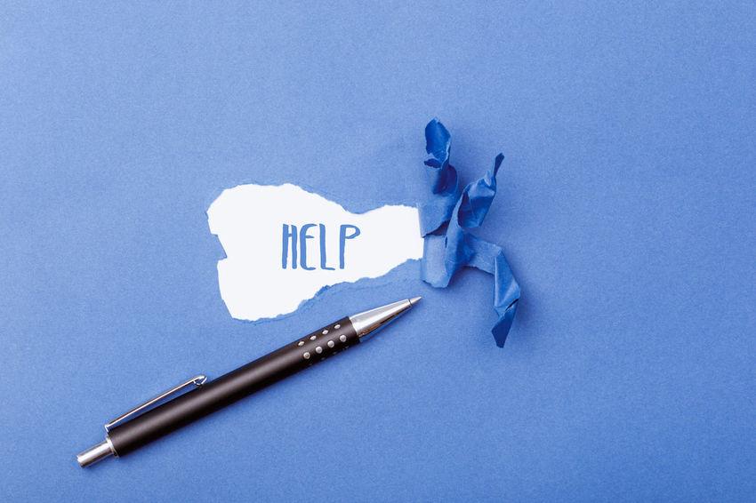 Communication Text Word Header Headline Title Copy Paper Copy Space Western Script Secret Hidden Revealed New Help SUPPORT Blue Single Word