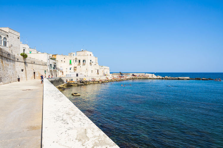 Giovinazzo waterfront, Apulia, Italy Apúlia Puglia Architecture Blue Building Building Exterior Built Structure City Clear Sky Copy Space Day Gargano Giovinazzo History Italy Land Nature No People Old Outdoors Sea Sky The Past Travel Destinations Water