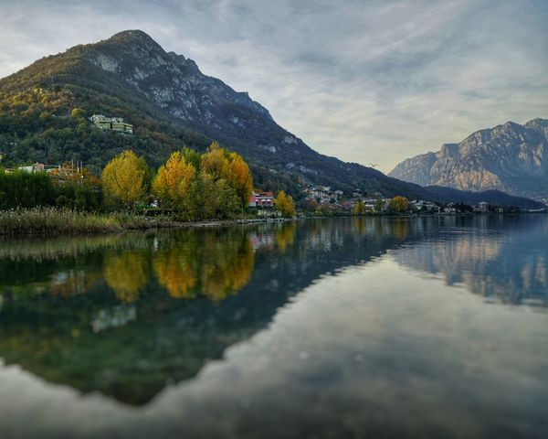 Mountain Reflection Lake Mountain Range Outdoors Mountain Peak Water Scenics Cloud - Sky Nature Landscape Beauty In Nature Snow No People Sky Day Tree A7r2 Lucariva Sony A7r2 Luca Riva Lombardia, Italy Sal24f20z Plant Part Autumn Perspectives On Nature