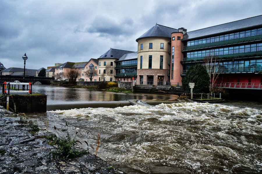 Architecture Cloudy Day Cloudy Sky Moody Moody Sky Rushing Water Water Weir White Water