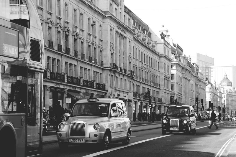 Transportation City Street London Outdoors Mode Of Transport Cab Regentstreet Blackandwhite British Canon Canonphotography