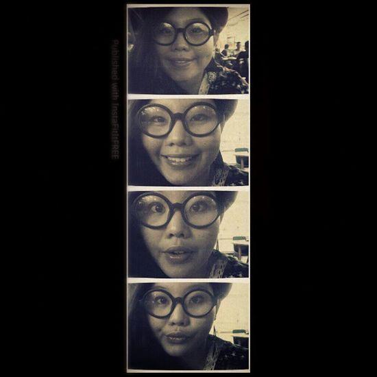 The expression mew Me LennonGlasses FeatherEaring RedBowlerHat igfame GeekInAframe instadaily Instaphoto photooftheday