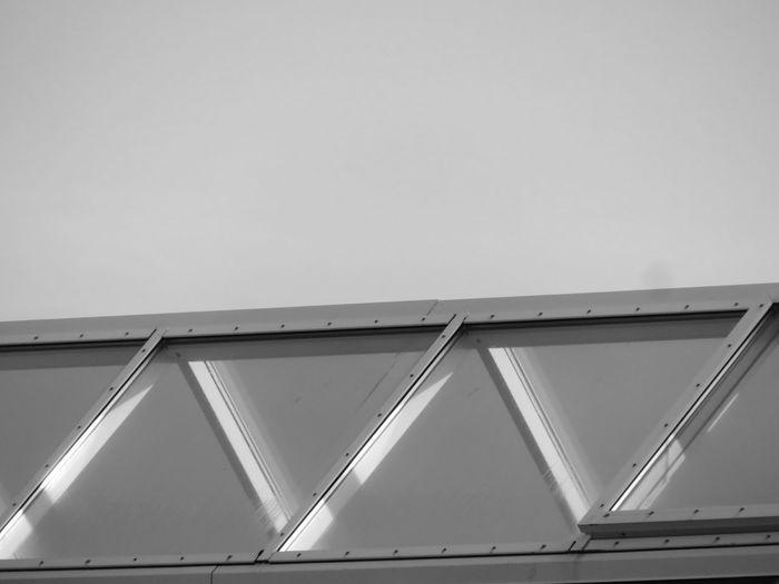 Modern Triangle Shape Architecture Building Exterior Built Structure Close-up