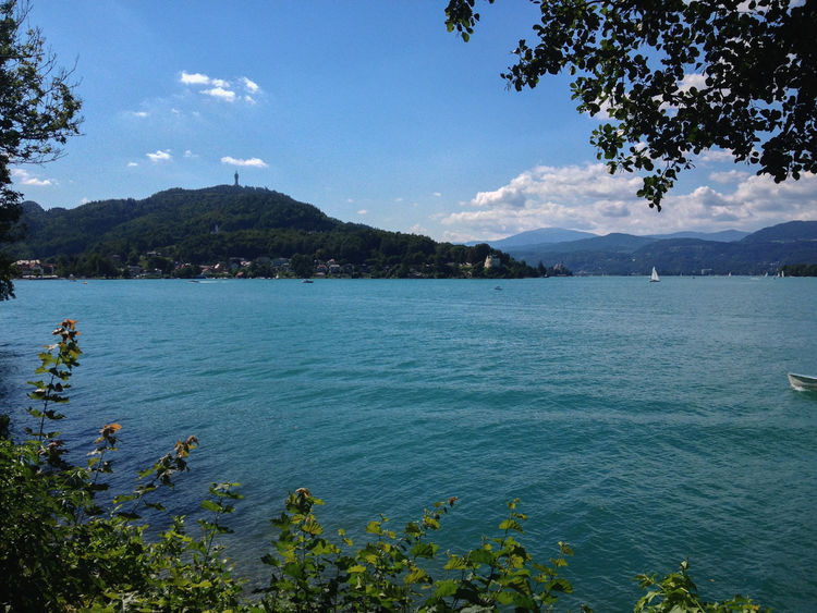 Aussichtsturm Pyramidenkogel Austria Reifnitz Beauty In Nature Blue Day Growth Mountain Mountain Range Nature No People Outdoors Scenics Sea Sky Summer Tranquil Scene Tranquility Tree Water Wörthersee
