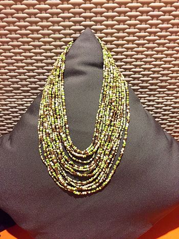 Beautiful Accesories Green Color Just Bought It Neklace Handmade Lovely