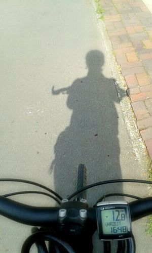 Shadow bicycle on the way home Enjoying Life Capture Freedom