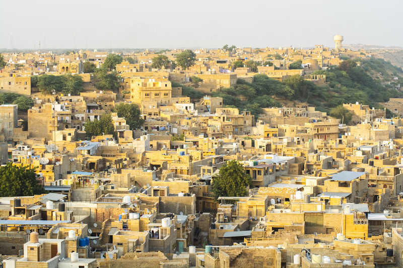 Building Exterior Architecture Built Structure City Building Cityscape Day Residential District Nature Sky Outdoors Crowded Crowd Sunlight High Angle View Clear Sky History The Past Community TOWNSCAPE Jaisalmar,India Rajasthan