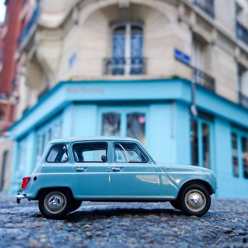 Renault4 R4 4L Renault Barourcq Bleu R4gtl Morninautos Diecast Diecastcars Diecastphotography Sony Xperia Z5