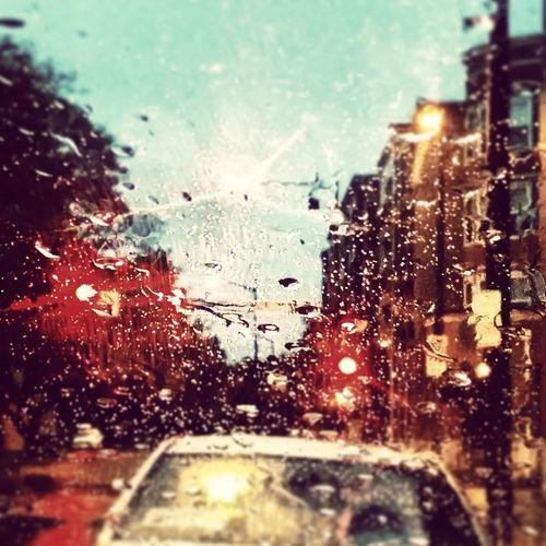 Rain,traffic,stop lights,streets,