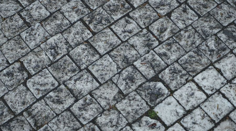 Looking down Full Frame Pattern Backgrounds Textured  High Angle View Footpath Paving Stone No People Rough Day Cobblestone Outdoors Street Close-up Directly Above Solid