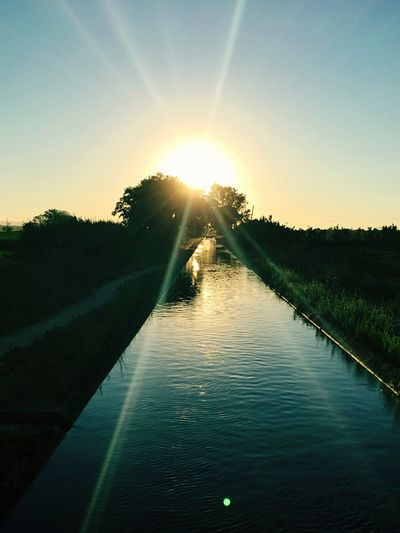 Beautiful sunset, golden moment, Taking Photos Enjoying Life water