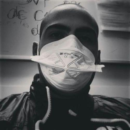 Hospital Blackandwhite Mask