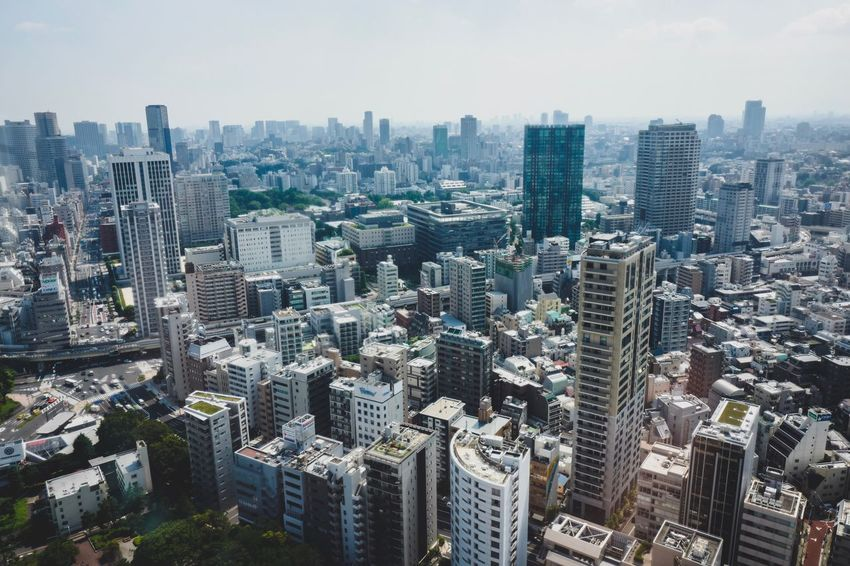 buildings at tokyo Cityscape Skyscraper Architecture City Building Exterior Modern No People Aerial View Urban Skyline Day Outdoors Built Structure Sky Japan Discoverjapan Tower