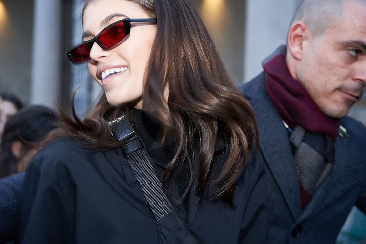 Kaia Gerber outside Ferretti show. Milan fashion week. March 2018 Fashion Ferretti Kaia Kaia Gerber Mfw Milan Fashion Week Sunglasses
