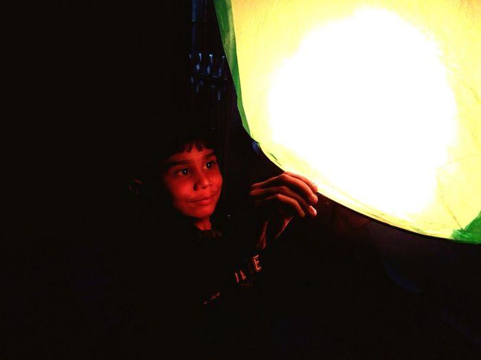 Uttarayan with chines lantern