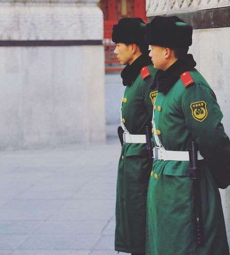 China Security Guards Police Officers Cold Winter Jacket Keep Warm Beijing, China EyeEmNewHere