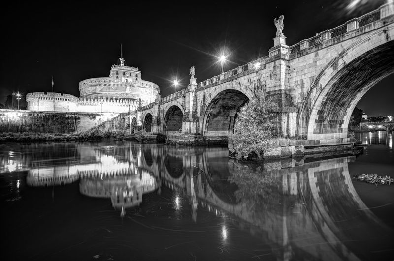 Arch Architectural Column Architecture Built Structure Capital Cities  Castel Sant'Angelo City Dome Façade Famous Place History Illuminated Italy Italy❤️ Night No People Outdoors Reflection River Sant'angelo Sky Tourism Travel Travel Destinations Water