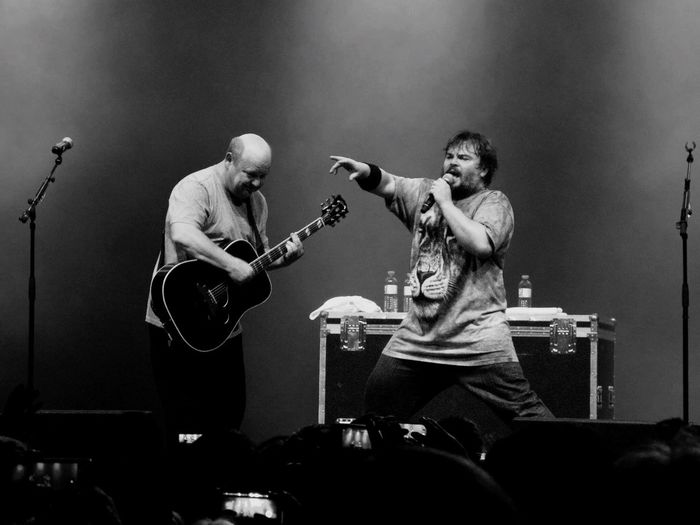 Blackandwhite Jack Black Kyle Gass Tenacious D Live Music Music Great Atmosphere Great Performance Concert Gasometer