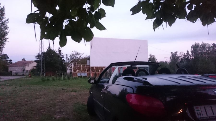 Car No People Outdoors Day Cinema Peugeot Drive-in Theater Drive-in Cinema Reflections