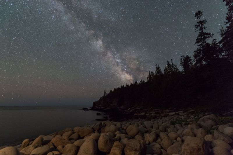 Milky Way over Acadia National Park Maine Acadia National Park Star - Space Astronomy Night Space Constellation Milky Way Galaxy Sky Star Field Nature Astrology Sign Beauty In Nature Sea Clear Sky Outdoors