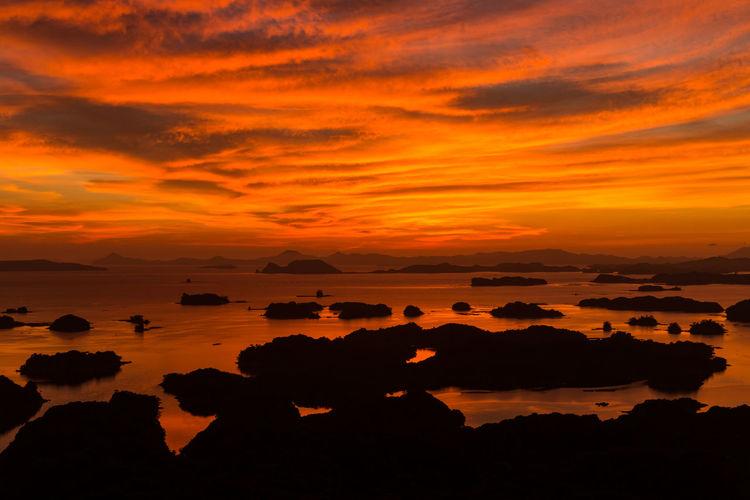 Cloud Cloud - Sky Idyllic Natural Beauty Nature Netural Photography Orange Color Sea Sky Sunset Water