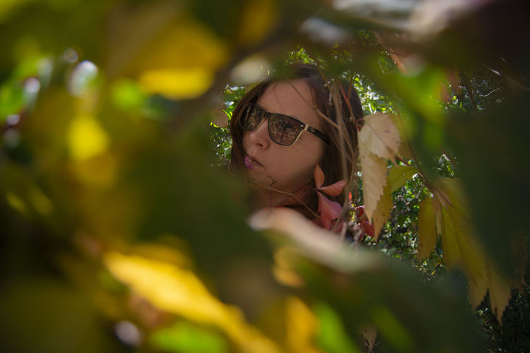 Selective Focus Glasses Headshot Portrait One Person Plant Leisure Activity Eyeglasses  Lifestyles Real People Women Nature Young Women Girls Looking Females Day Fashion Outdoors Beautiful Woman Nature Portrait Autumn Portrait Autumn colors Composition Beauty In Nature