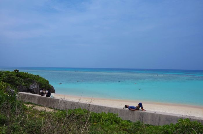 Perfect Place to being Lazy @ Nishihama, Hateruma Island, Okinawa, Japan Horizon Over Water Sea Scenics Beach Beauty In Nature Tranquil Scene Full Length Perfect Day Reef Coral Reef Shore White Sand Holiday And Relaxing Relaxing Nap Time Sunbathing Sky And Sea Naturelovers Beach Photography Beachlovers Haterumajima Okinawa Japan Photography Blue Gradationcolor EyeEmNewHere The Great Outdoors - 2017 EyeEm Awards BYOPaper! Live For The Story