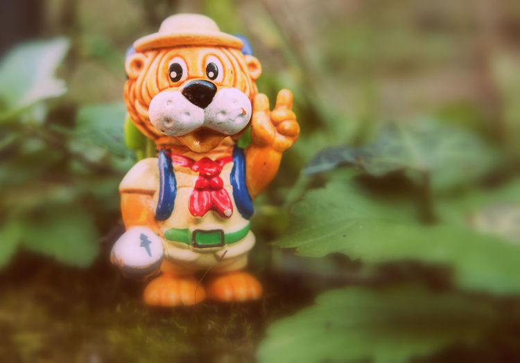 Hiking, Lion, Miniature, Animal, Little Lion, Toy, Miniature Toy In Nature