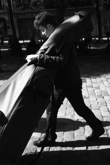 Fête de la Musique — Music Day. Candid IPhoneography Blackandwhite Street Life