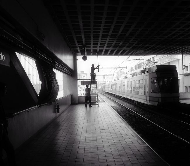 Railroad Station Railroad Station Platform Silhouette Streetphotography Manila, Philippines Huawei P9 Plus Smartphone Photography