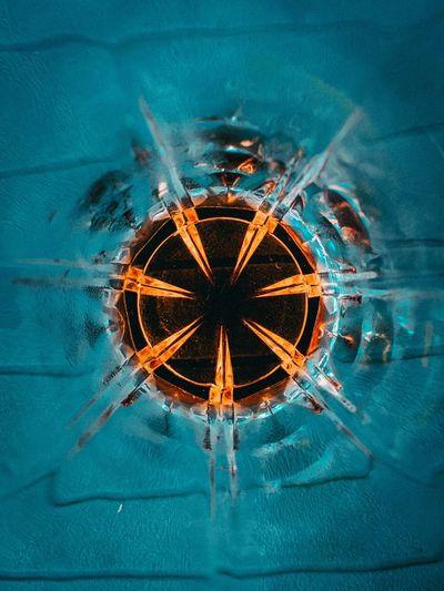 Directly below shot of blue water