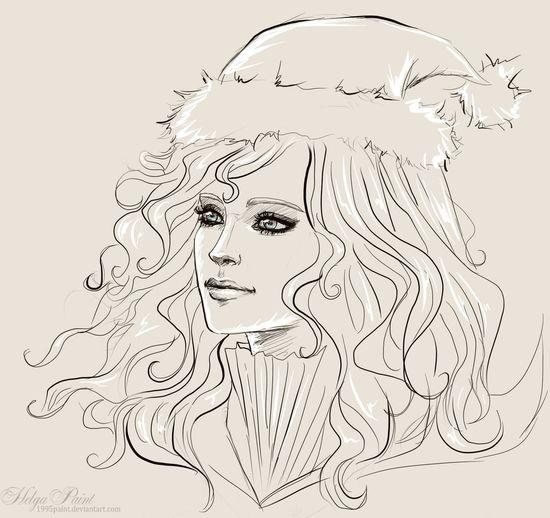 1995paint 2017 Happynewyear HelgaPaint Sapkowski Sketch Art Fantasy Fantasygirl Girl Longhair Portrait Smile Thewitcher Triss Triss_merigold Trissmerigold Trissthewitcher Witch Youngwoman