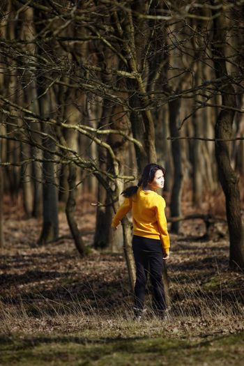 My Little Girl Dunes Of Holland Tree Forest One Person Land Nature Adult Plant Young Adult Outdoors