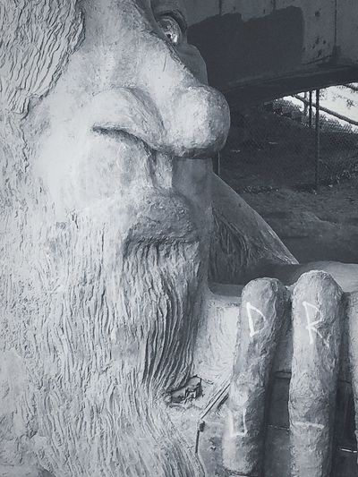 Sculpture Statue Working Day Adult People Indoors  One Person Nature Close-up Only Men Bridge Troll Cement Bridge Statue Art