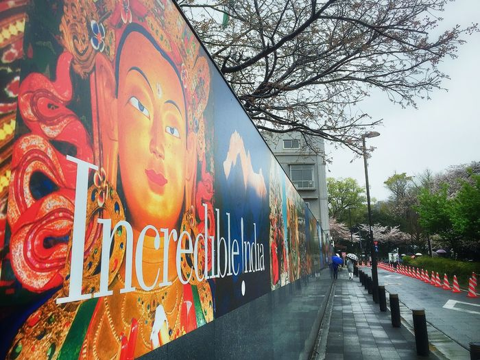 インドカレー…食べたい😱✨ Relaxing 千鳥ヶ淵 Enjoying Life Beautiful Day Walking Around 壁 Wall Indian Culture  Art Streetphotography
