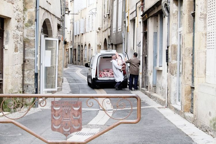 Butcher Delivery City Cityscapes France Big Chunks Of Meat Food Streetphotography