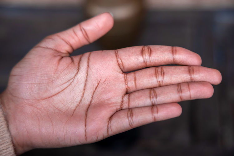 Close-up of human hand