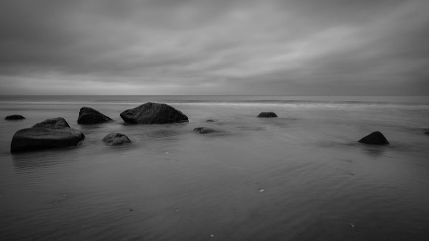 Black and White Stones in the Water Baltic Sea Beach Beauty In Nature Black And White Black And White Photography Blackandwhite Cloud - Sky Horizon Horizon Over Water Idyllic Land Long Exposure Nature No People Outdoors Rock Rock - Object Scenics - Nature Sea Sky Solid Stones & Water Tranquil Scene Tranquility Water