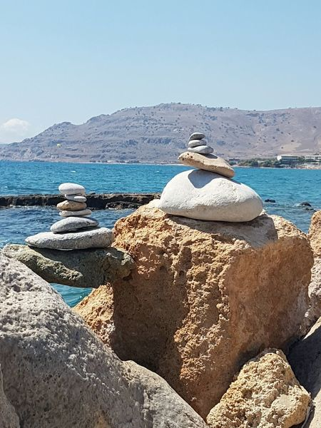 Water Clear Sky Stone Statue Stone - Object Sunny Rhodes Greece RhodesPafos