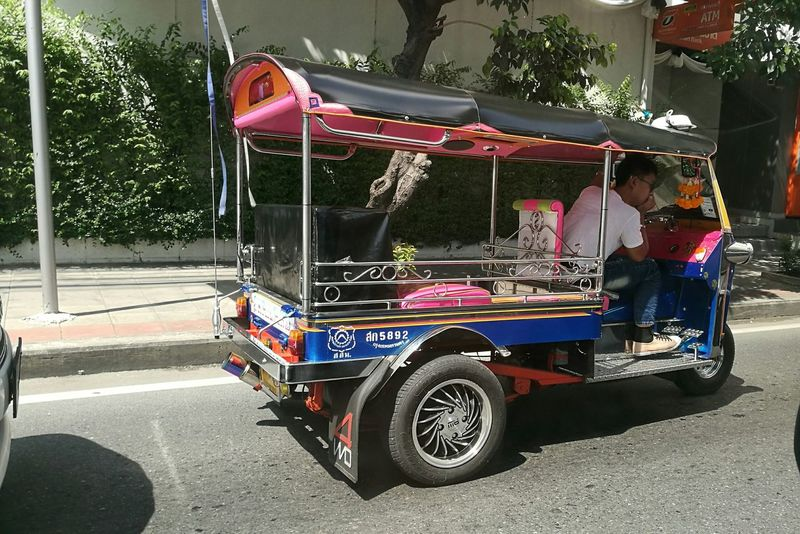 Tuktuk Taxi Tuktuk Thailand Tuktukdriver TukTuk City People Outdoors