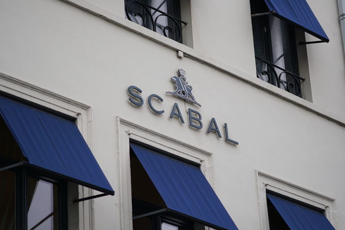 Brussels, Belgium - December 9, 2017: Scabal store. Scabal is a Belgian textile company founded in 1938 by Otto Hertz as a cloth merchant and supplier of fabrics Boutique Fabrics Fashion Shopping Building Exterior Clothes Clothing Brand Glamour No People Outdoors Shop Store Window
