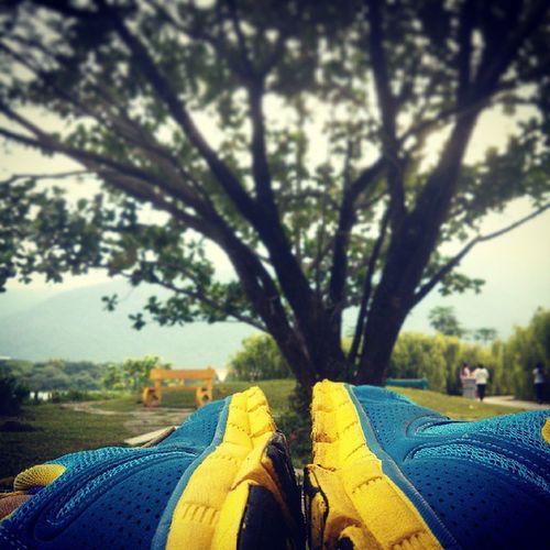 ⛅☁Good morning. MOVE ON.?? WorkOutfit WorkOutMusic Jogging Workout runner nikerunning getfitwithalexfong. morning goodmorning kampar park instagrammer view