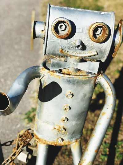 Doll IPhone Photography Robots Robot Metal Close-up Focus On Foreground No People Day Outdoors Representation Human Representation Art And Craft Rusty High Angle View EyeEmNewHere