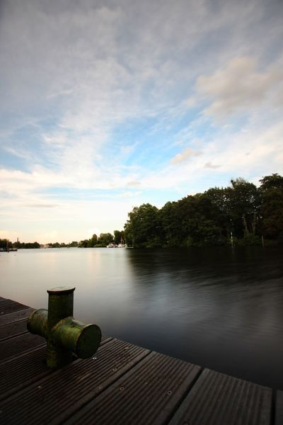 Water Tree Pier Lake Wood - Material Vacations Tranquility Sky Nature No People Relaxation Summer Scenics Outdoors Beauty In Nature Landscape Day Beauty In Nature Looking At Camera Sony A6000 Focus On Foreground Forest Berlin, Germay Horizon Over Water Freshness