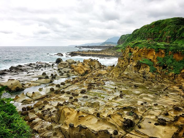 Taiwan Peace Island Keelung Water Sky Sea Beach Land Cloud - Sky Beauty In Nature Scenics - Nature Nature Horizon Over Water Tranquility Horizon Tranquil Scene Outdoors Non-urban Scene No People Day Plant Idyllic Low Tide
