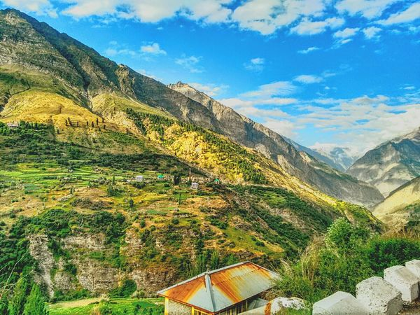 Mountain Mountain Range Beauty In Nature Cloud - Sky Outdoors Green Color Rural Scene Environmental Conservation Scenics Landscape Nature Sky Lahoul Nature Photography Himalayas Explore Himachal Himachalpradesh Green Green Green!