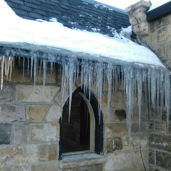 Cold Temperature Frozen Icicle Art Icicle Play ❄ Icicle Watching Its Cold Outside