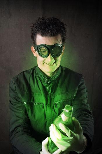 Portrait Of Man Wearing Mask