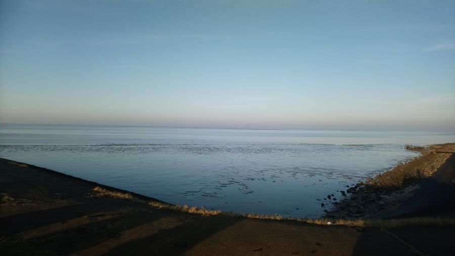 Waddenzee Lauwersoog Water Salt - Mineral Clear Sky Sea Low Tide Beach Desert Sunset Blue Sand Coastal Feature Coastline Calm Infinity Seascape
